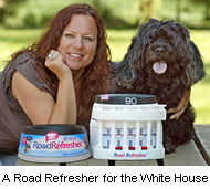 US President Barack Obama orders the Road Refresher Non-Spill Pet Bowl for his dog, Bo.